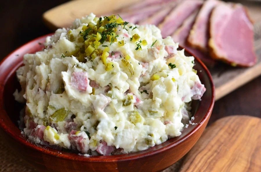Corned Beef Potato Salad. from willcookforsmiles.com