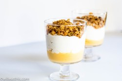 Blood Orange curd and Yogurt Parfait with Granola