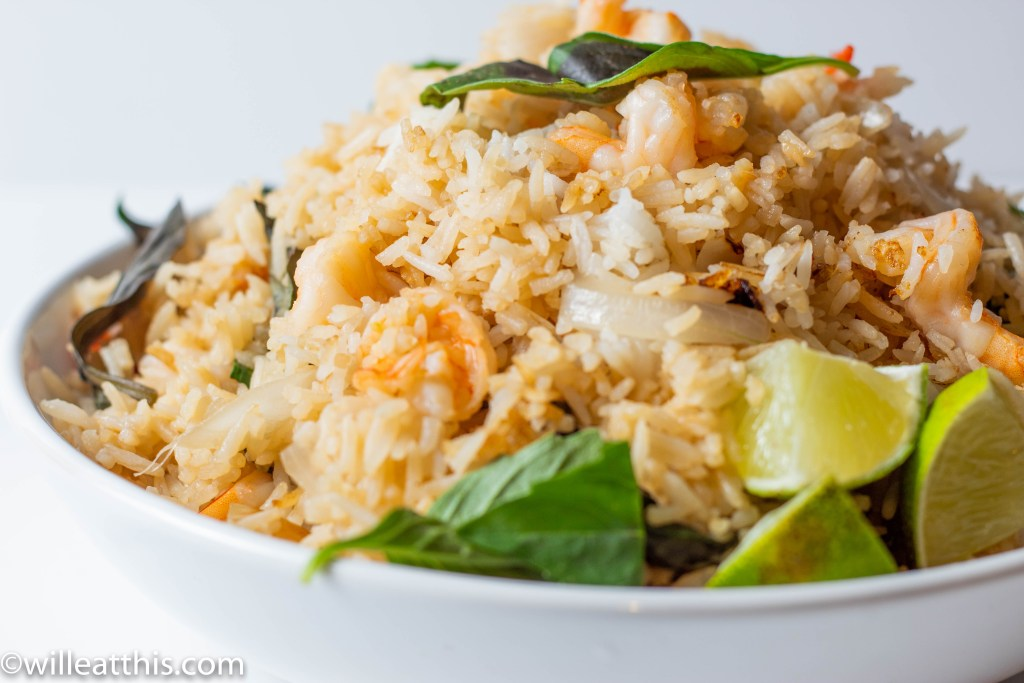 Close-up of Thai Basil Fried Rice