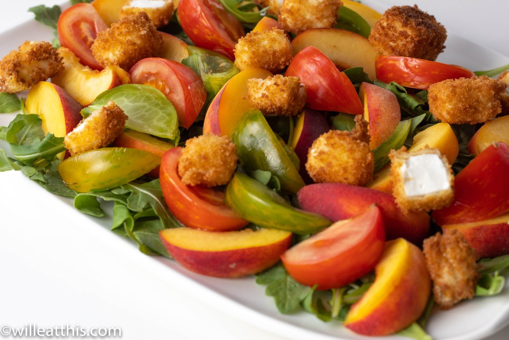 Peach Tomato Salad with Feta crouton Platter
