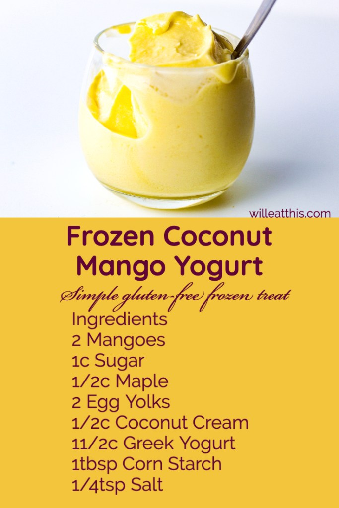 Frozen Mango Coconut Yogurt