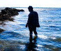 Silhouette of me at a beach in new bedford