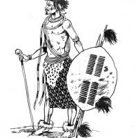 Illustration of a Zulu warrior