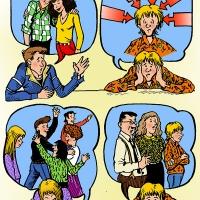 Digital - cartoon about teenage problems