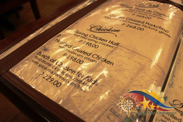 Gustav Cafe Balibago Angeles City Chicken Menu 3