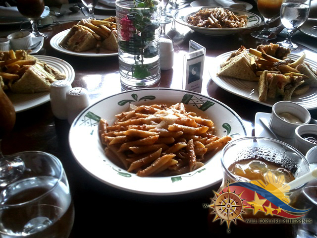 Penne alla Bolognese and Club Sandwich at The Manor Camp John Hay Baguio City