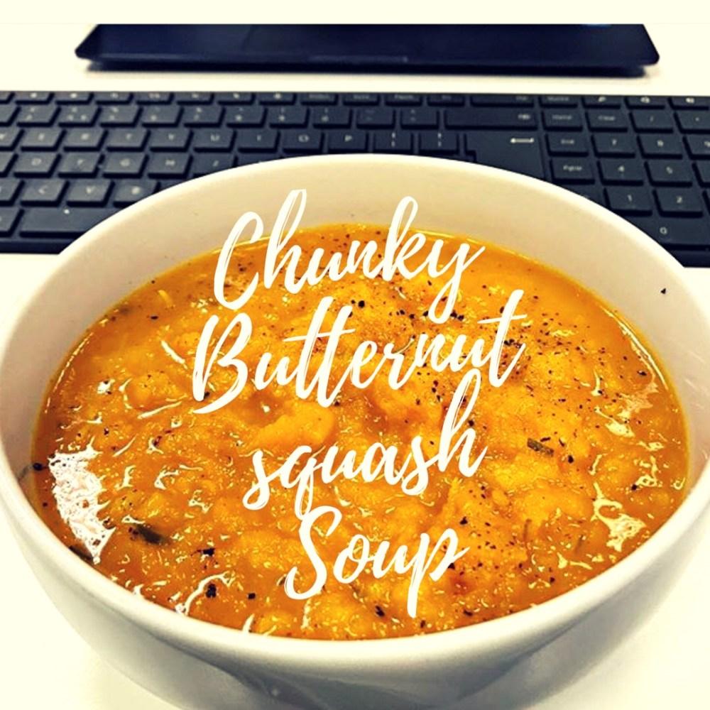 chunky butternut squash soup