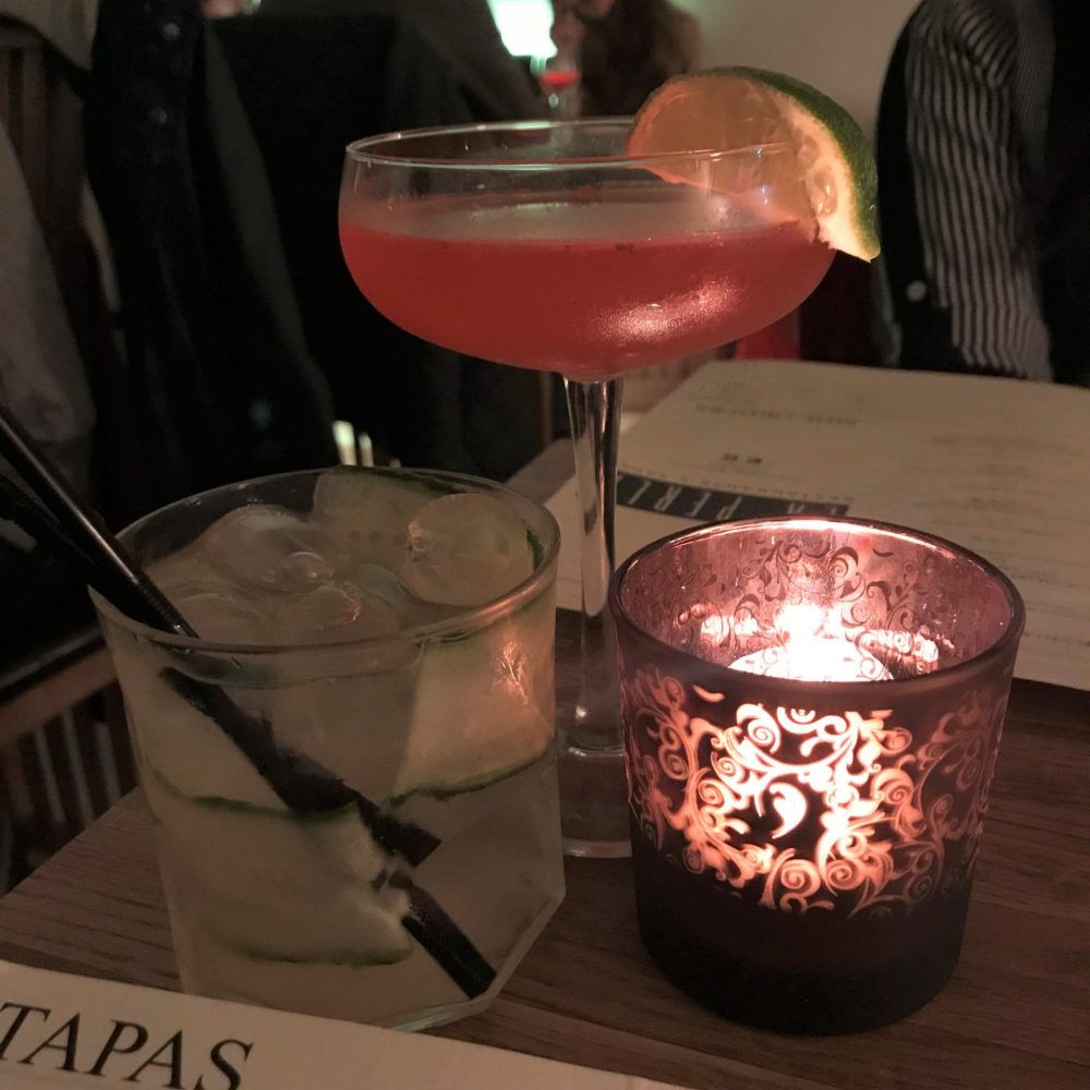 cocktails at La Perla Bath