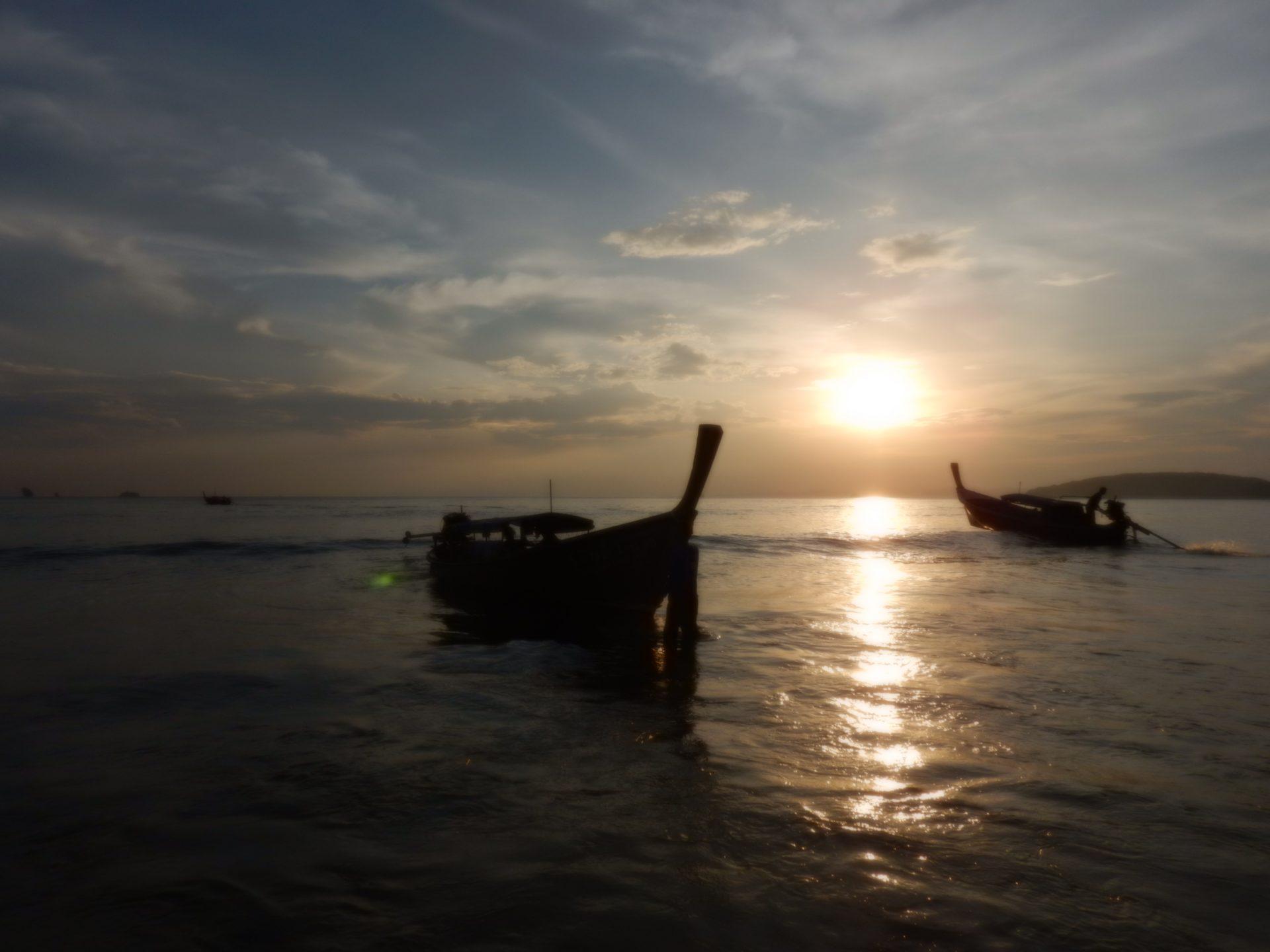 sunset on Ao Nang Beach