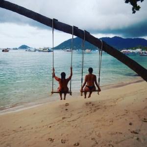 swings on Beach on koh Tao