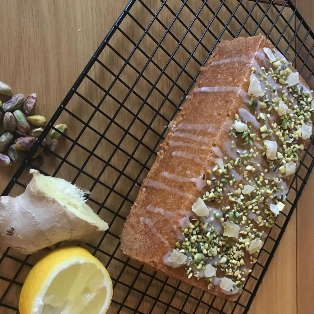 Lemon, Ginger & Pistachio Loaf