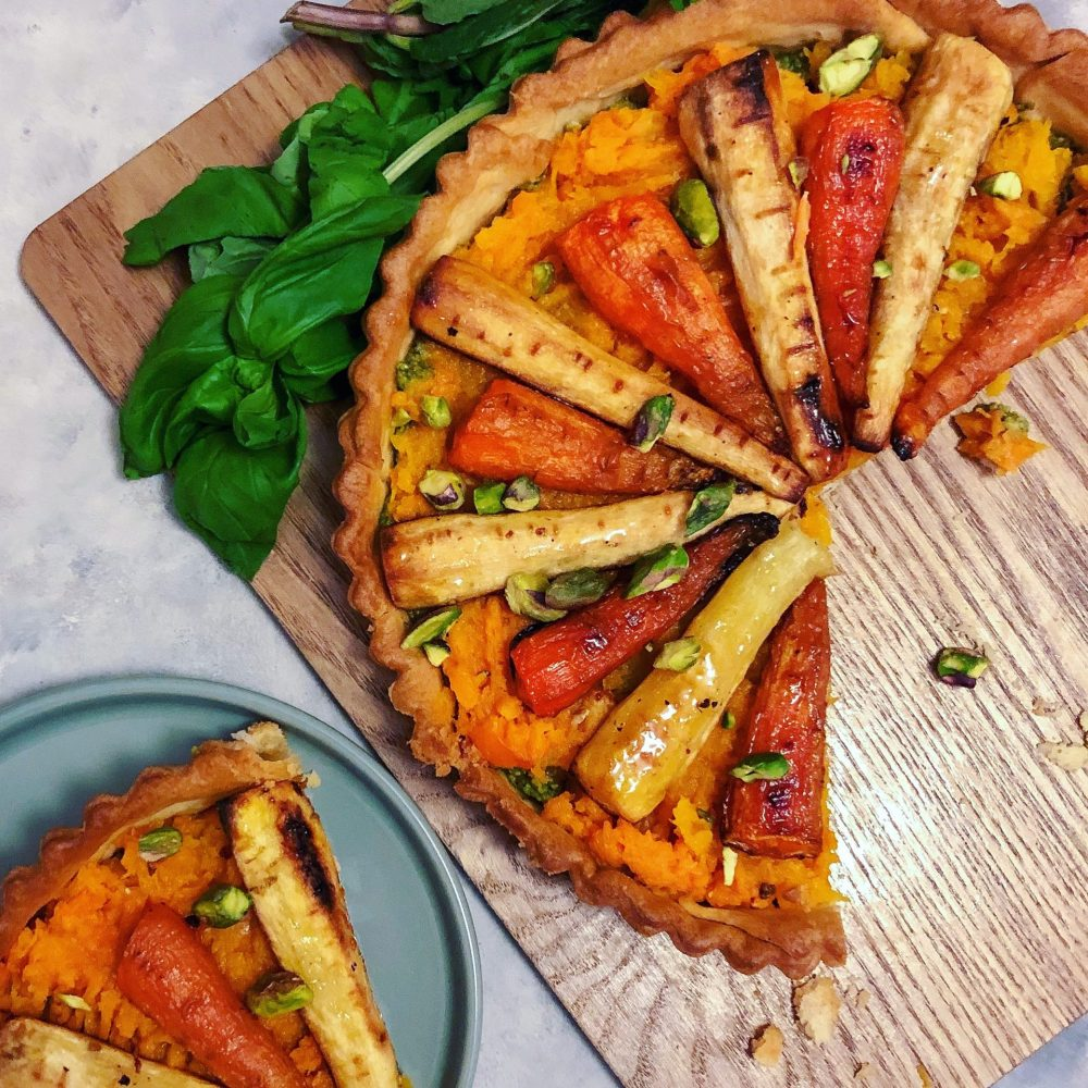 vegan pesto tart