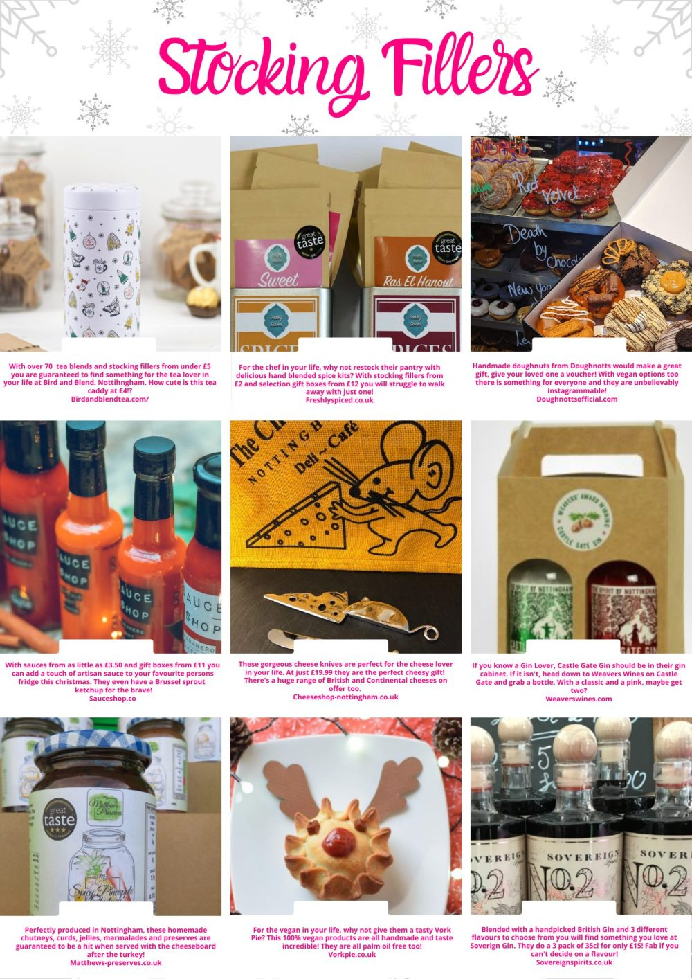 Foodie stocking fillers