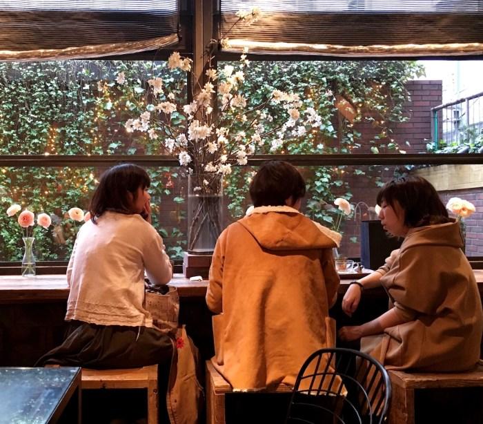 aoyama tea house patrons