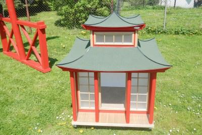 Willi-Wood Japan Haus Hundehütte aus Holz