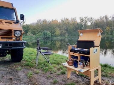 Willi-Wood Patrol-Box im Einsatz geöffnet