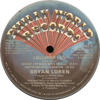 Bryan Loren - Lollipop Luv B