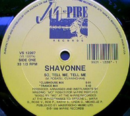 Shavonne - So Tell Me,Tell Me A