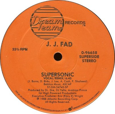 J.J. Fad - Supersonic A