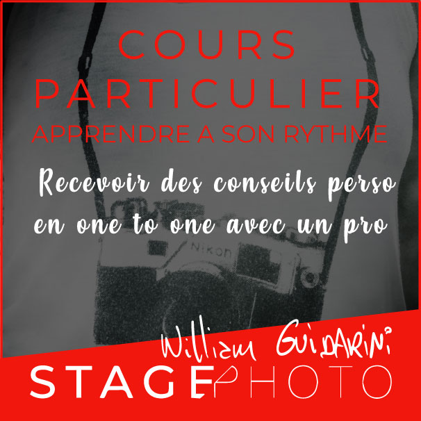 Cours photo particulier avec William Guidarini