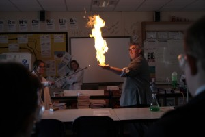 BSW igniting methane bubble 2