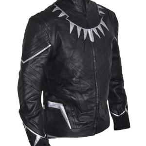 Black Panther Black Leather Jacket