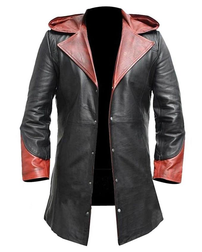 Devil May Cry Dante Leather Jacket William Jacket