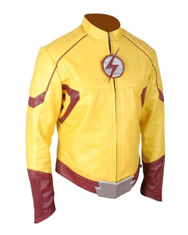 Kid Flash Leather Jacket