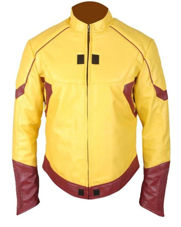 Kid Flash Wally West Leather Jacket