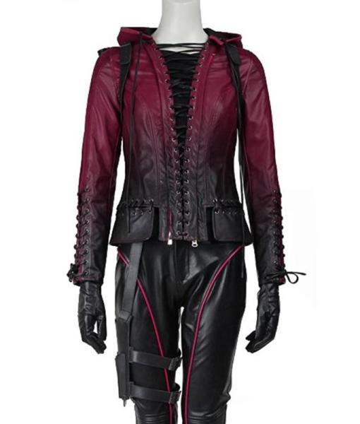Arrow Speedy Hooded Leather Jacket