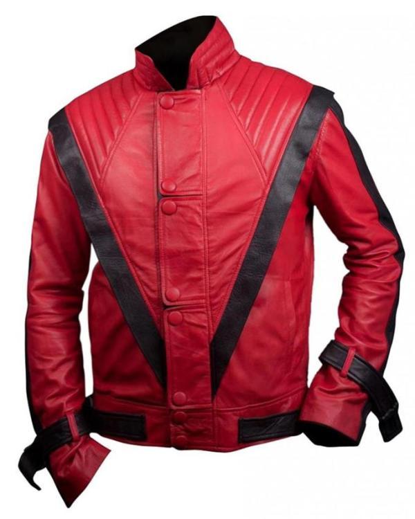 MJ Thriller Red Leather Jacket