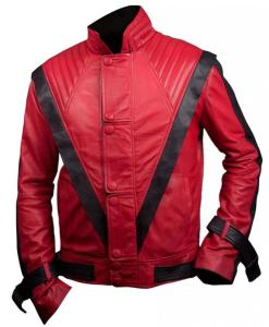 MJ Thriller Red Leather Jacket