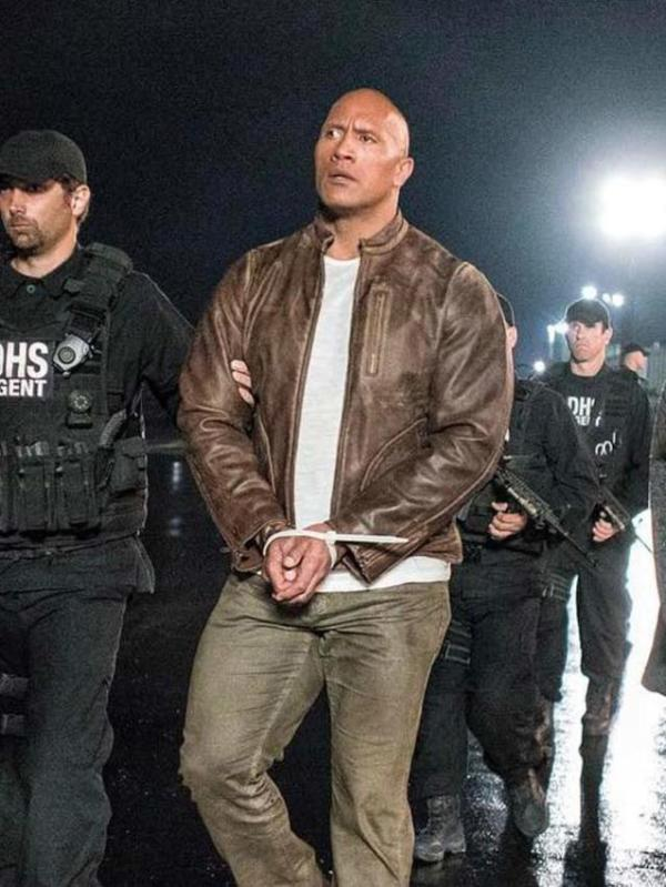 Davis Okoye Rampage Dwayne Johnson Leather Jacket