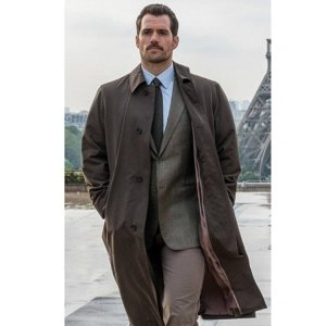 Mission Impossible Fallout Henry Cavill Trench Cotton Coat