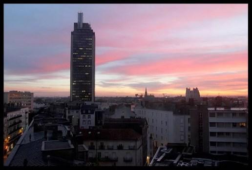 Levé du soleil, Tour de Bretagne Nantes par William Jezequel