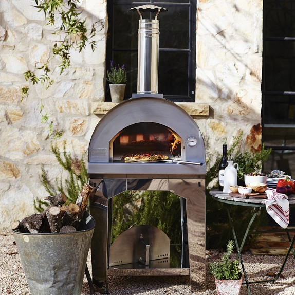 Forno Toscano Margherita Outdoor Pizza Oven | Williams Sonoma on Outdoor Patio With Pizza Oven  id=85742