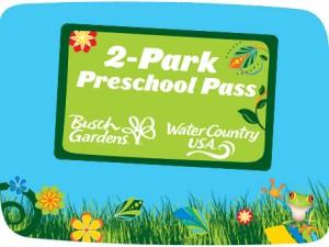 BUSCH GARDENS FREE 2 Park Preschool Pass