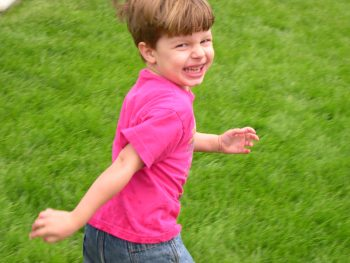 preschooler running