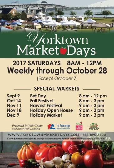 Yorktown-Market-Days-schedule-2017