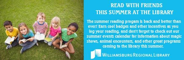 Summer Reading Williamsburg library