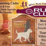 Dog Street Pub Running Club and Will Run for Wine, Williamsburg Winery's Run Club – Free Weekly Running Clubs – Family Friendly and with food and drink perks!