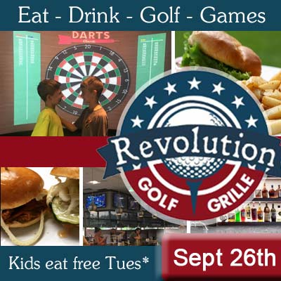 kids eat free revolution golf and grille