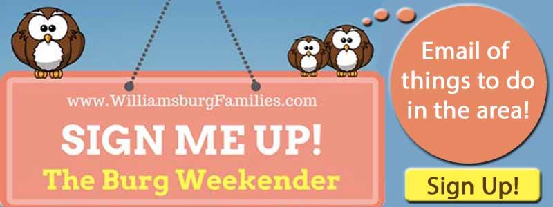 sign up williamsburg enewsletter