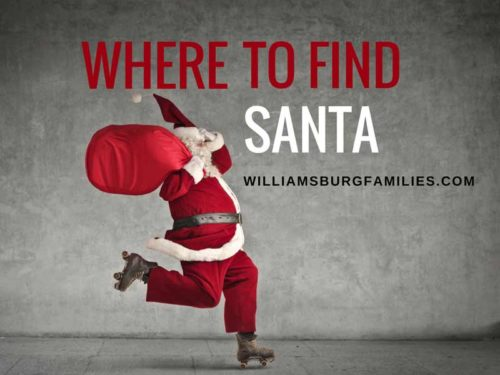 santa in williamsburg, yorktown, newport news