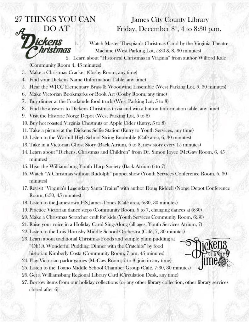 27 Dickens Christmas To Do