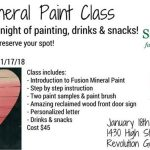 Fusion Mineral Paint Class at Revolution Golf and Grille – Thursday Jan 25th – details: