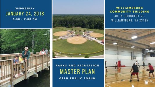 'Master Plan Open Public Forum' williamsburg
