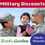 Busch Gardens Waves of Honor , Active Duty Military Ticket Discounts and Veteran Ticket Discounts available – more info