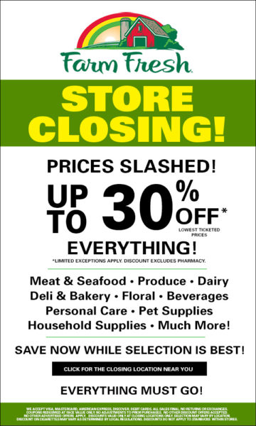 farm fresh store closing