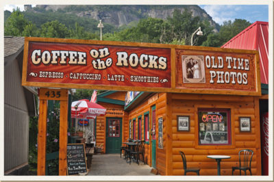 coffee on the rocks